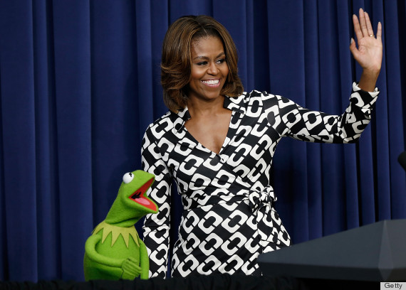The First Lady And Joint Chiefs Chairman Dempsey Host Screening Of Muppets Most Wanted